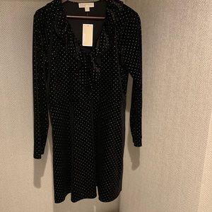 FINAL SALE Michael Kors Velvet black & gold dress